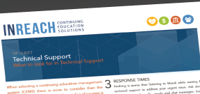 Technical Support for online continuing education