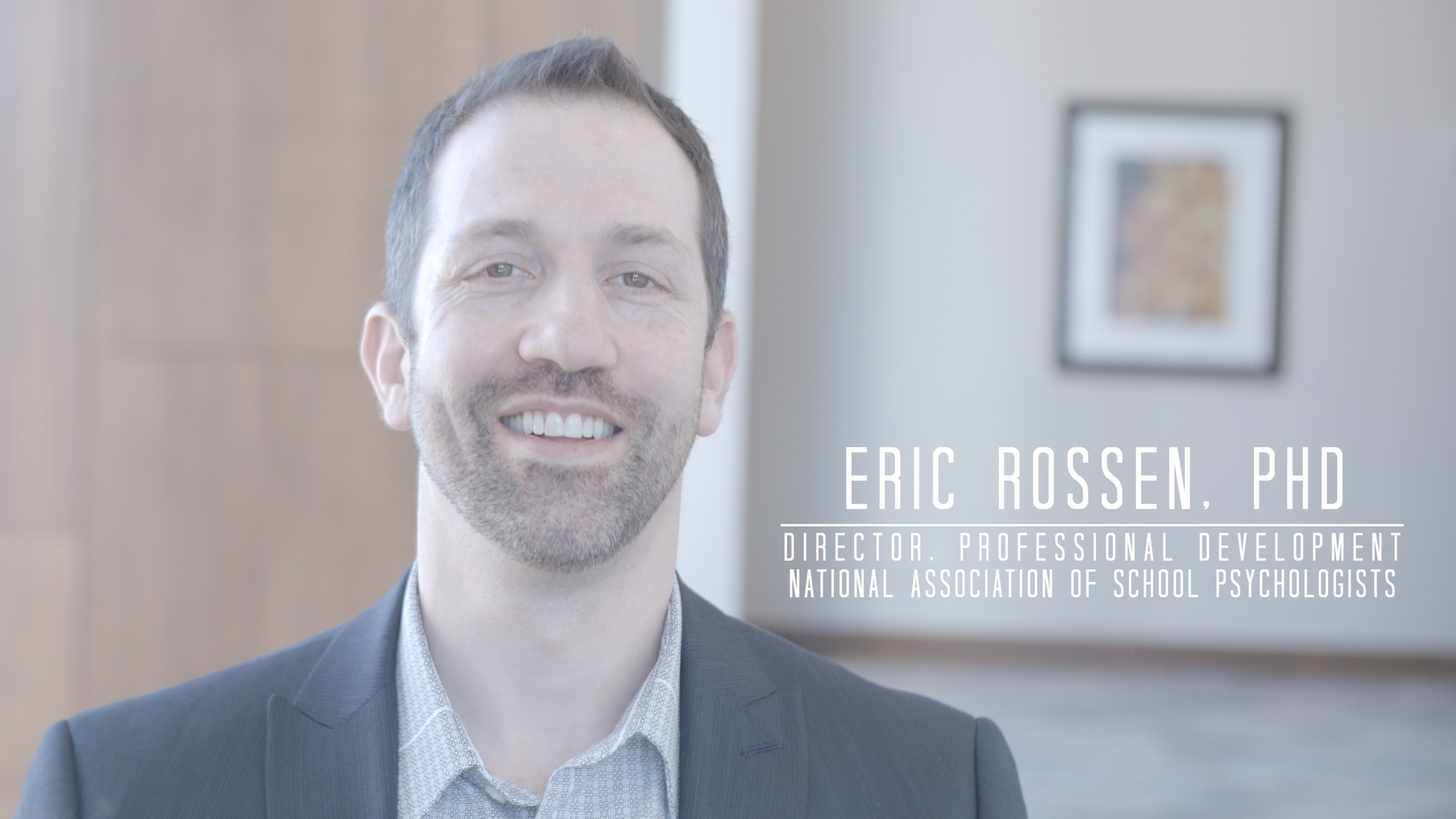 Eric Rossen, NASP Director of Professional Development, InReach Partners in Excellence